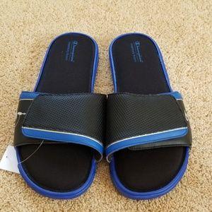 NWT! Champion Memory Foam Blue Size 12 Slides